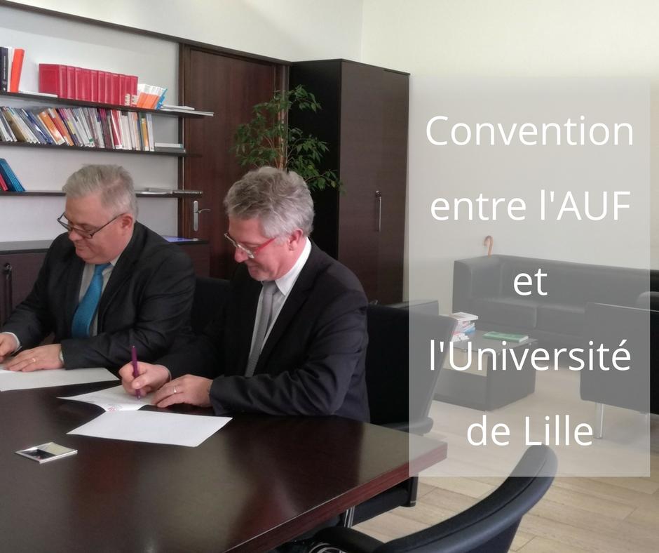 Convention entre l'AUF et l'Université de Lille