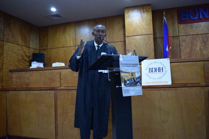 lauréat de la 3e édition du concours de plaidoirie sur les droits humains en Haïti