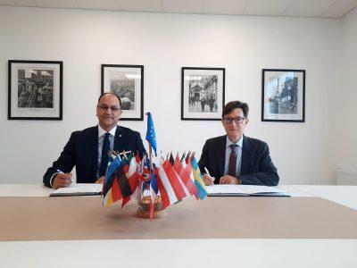 Rencontre avec l'Ambassadeur de France en République de Moldova-signature de la convention du projet des « Classes bilingues francophones »